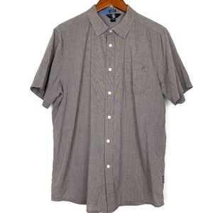 Volcom Brown Casual Button Up Shirt